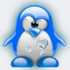 penguin with bubles