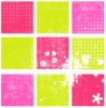 Cute green and pink tile background