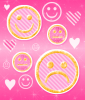 pink smiley bg