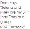 Demi,Selena,Miley BFF