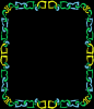blue,goldand green frames