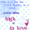 high or in love